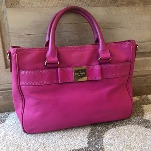 Kate Spade Pink Leather Bow Tote